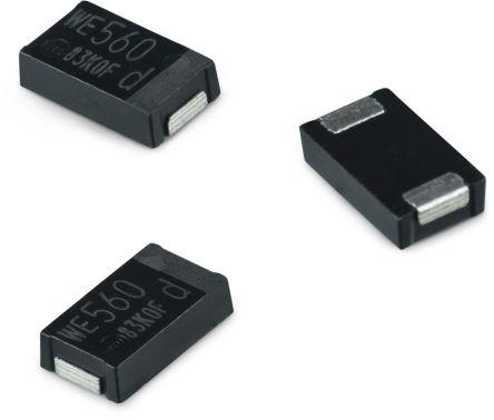 Wurth Elektronik 470μF Polymer Capacitor 2.5V dc, Surface Mount - 875046319001 (3500)