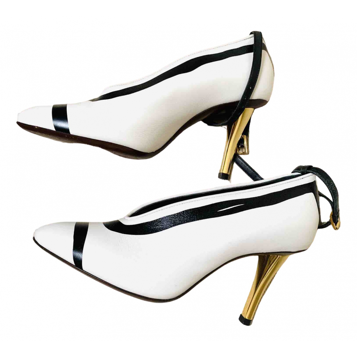 Lanvin \N White Leather Heels for Women 35 EU