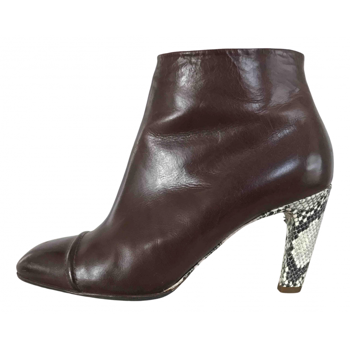 Dries Van Noten - Boots   pour femme en cuir - marron