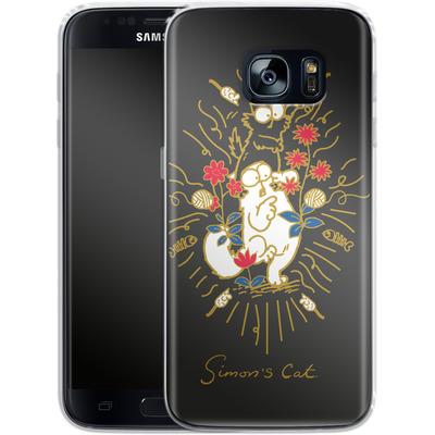 Samsung Galaxy S7 Silikon Handyhuelle - Simon´s Cat and Kitten von Simons Cat