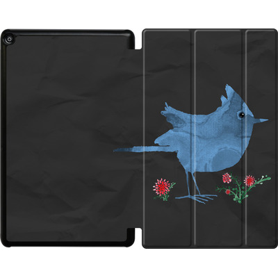 Amazon Fire HD 10 (2018) Tablet Smart Case - Watercolour Bird Black von caseable Designs