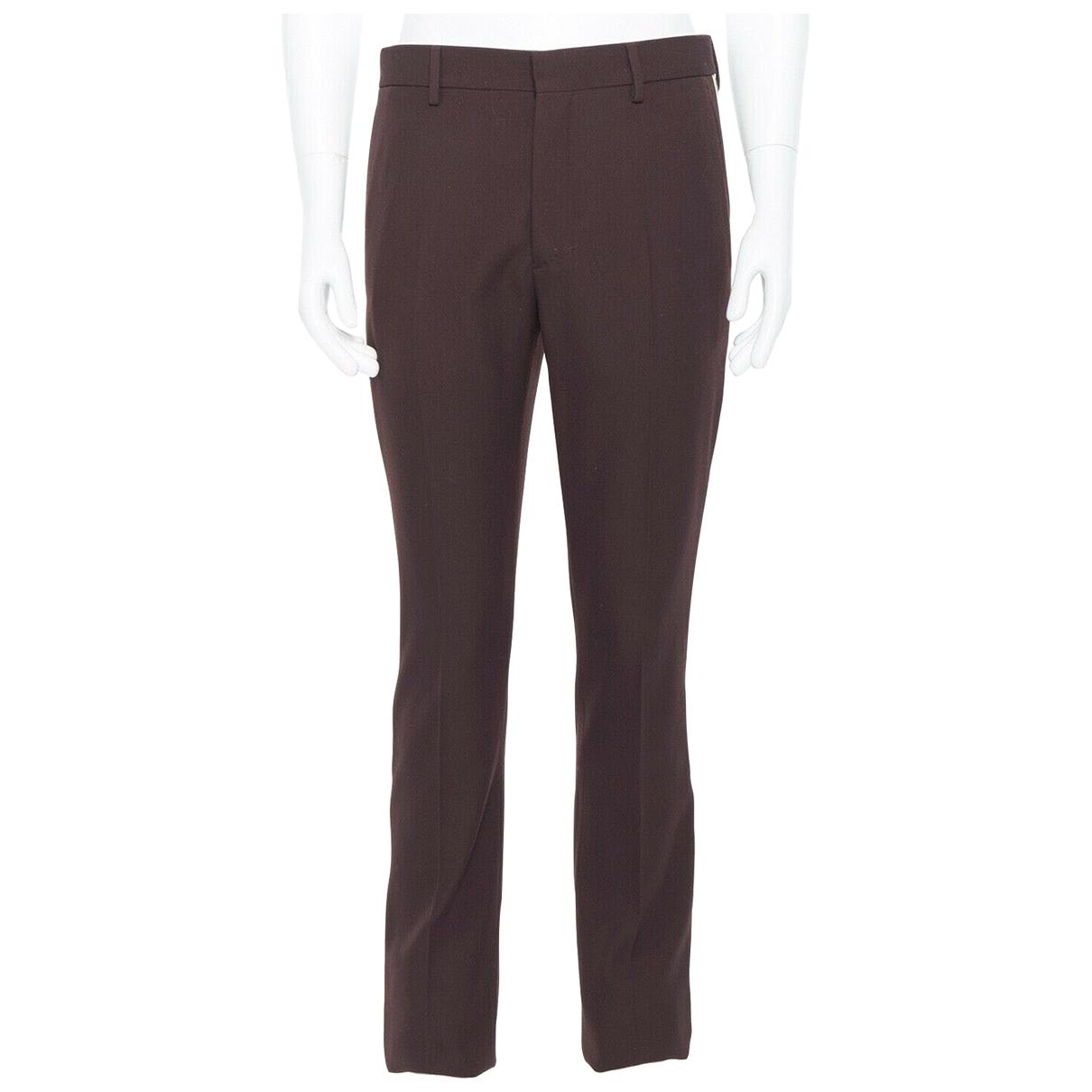 Calvin Klein \N Brown Wool Trousers for Men S International