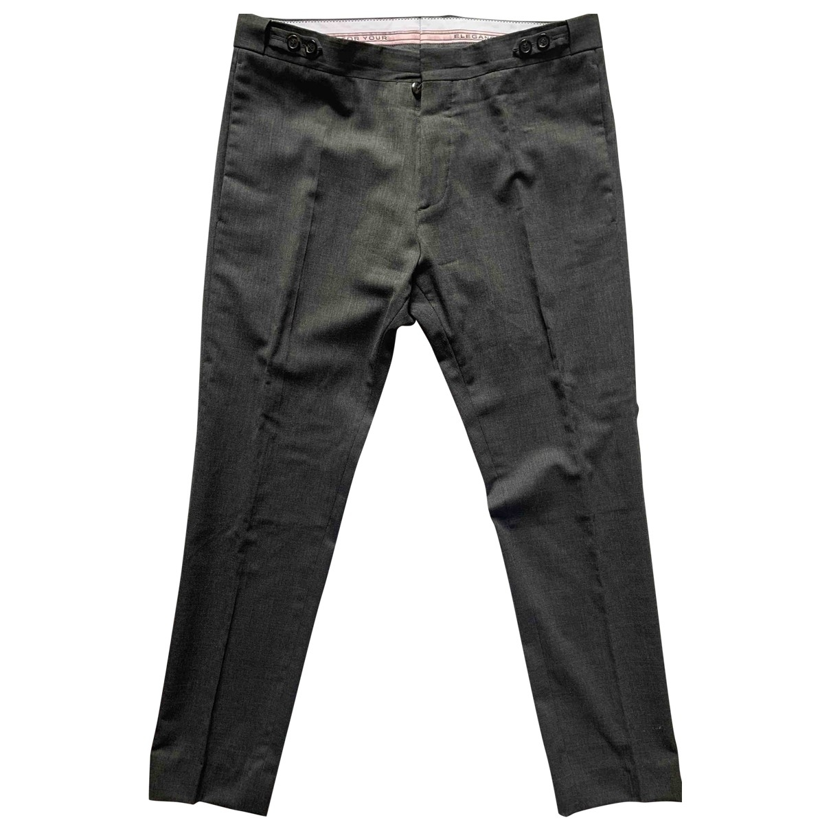 Dsquared2 \N Grey Wool Trousers for Men 48 IT