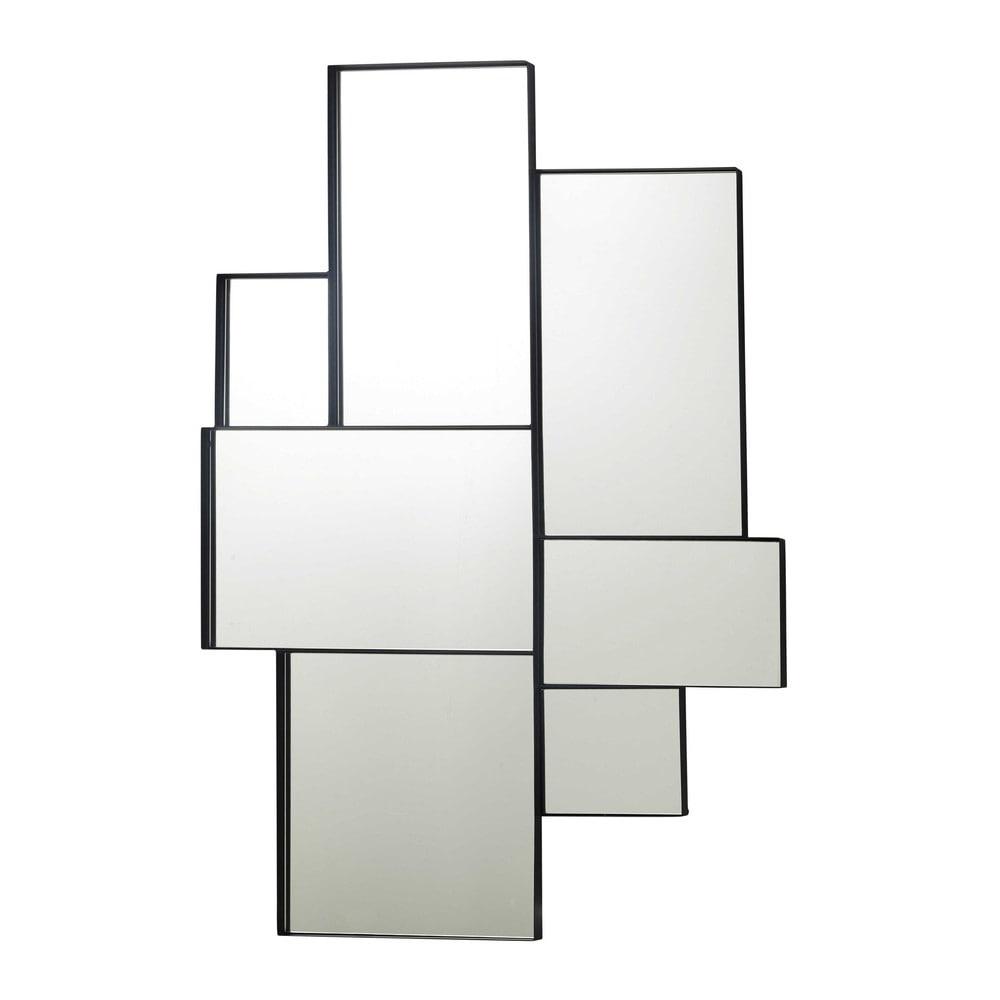 Spiegel mit Metallrahmen, schwarz 89x123