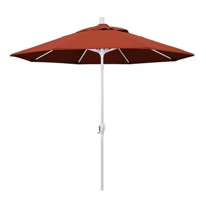 GSPT908170-5440 9' Pacific Trail Series Patio Umbrella With Matted White Aluminum Pole Aluminum Ribs Push Button Tilt Crank Lift With Sunbrella 2A
