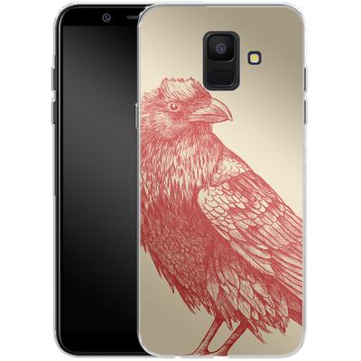 Samsung Galaxy A6 Silikon Handyhuelle - Red Raven von Terry Fan