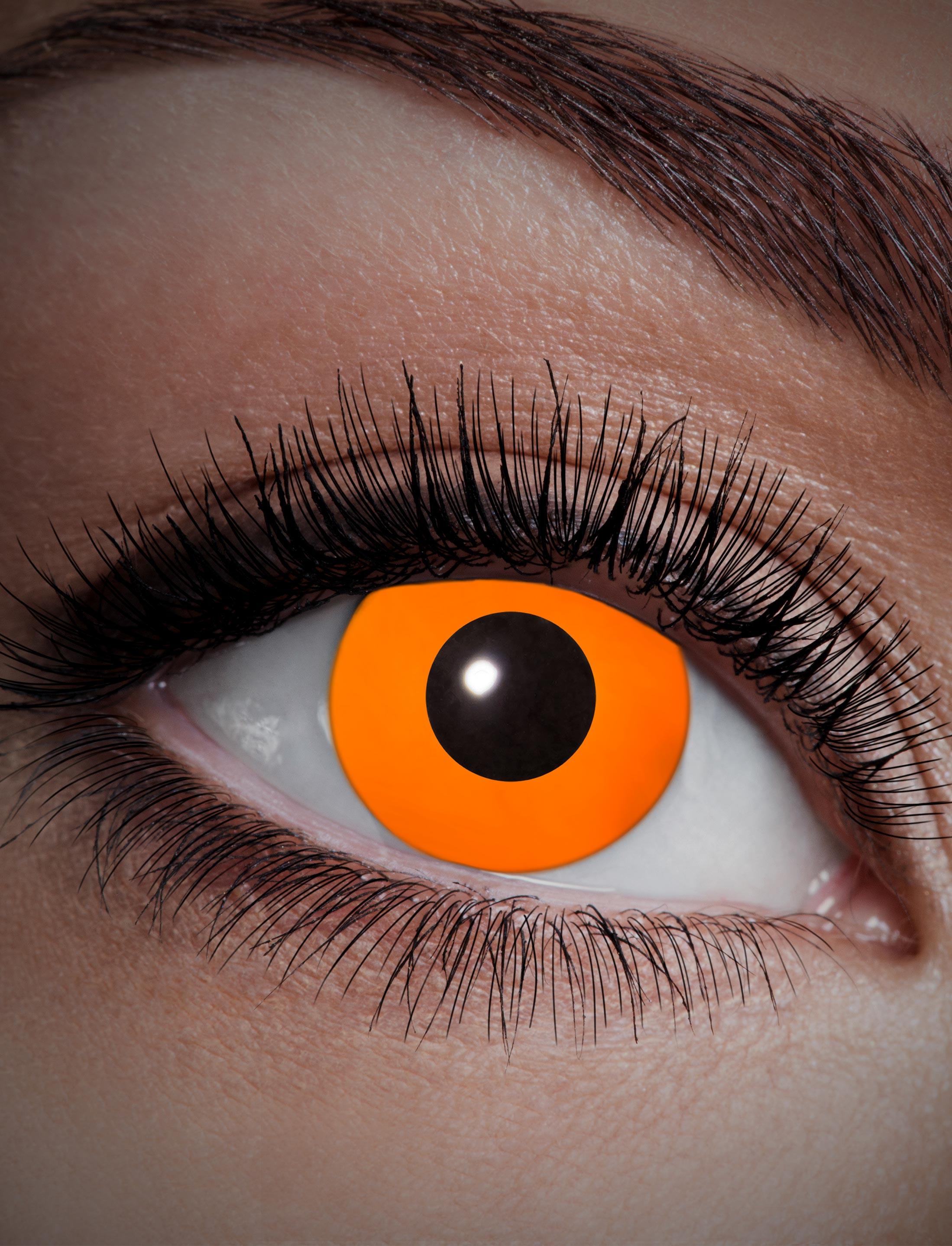 Kostuemzubehor Kontaktlinsen UV Flash Orange