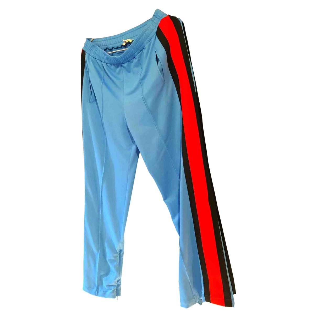 Ganni \N Blue Trousers for Women 34 FR