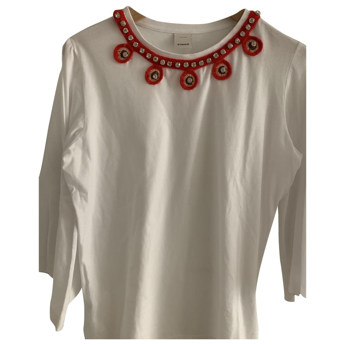 Pinko \N White Cotton  top for Women 44 IT