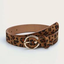 Guertel mit Leopard Muster und Schnalle