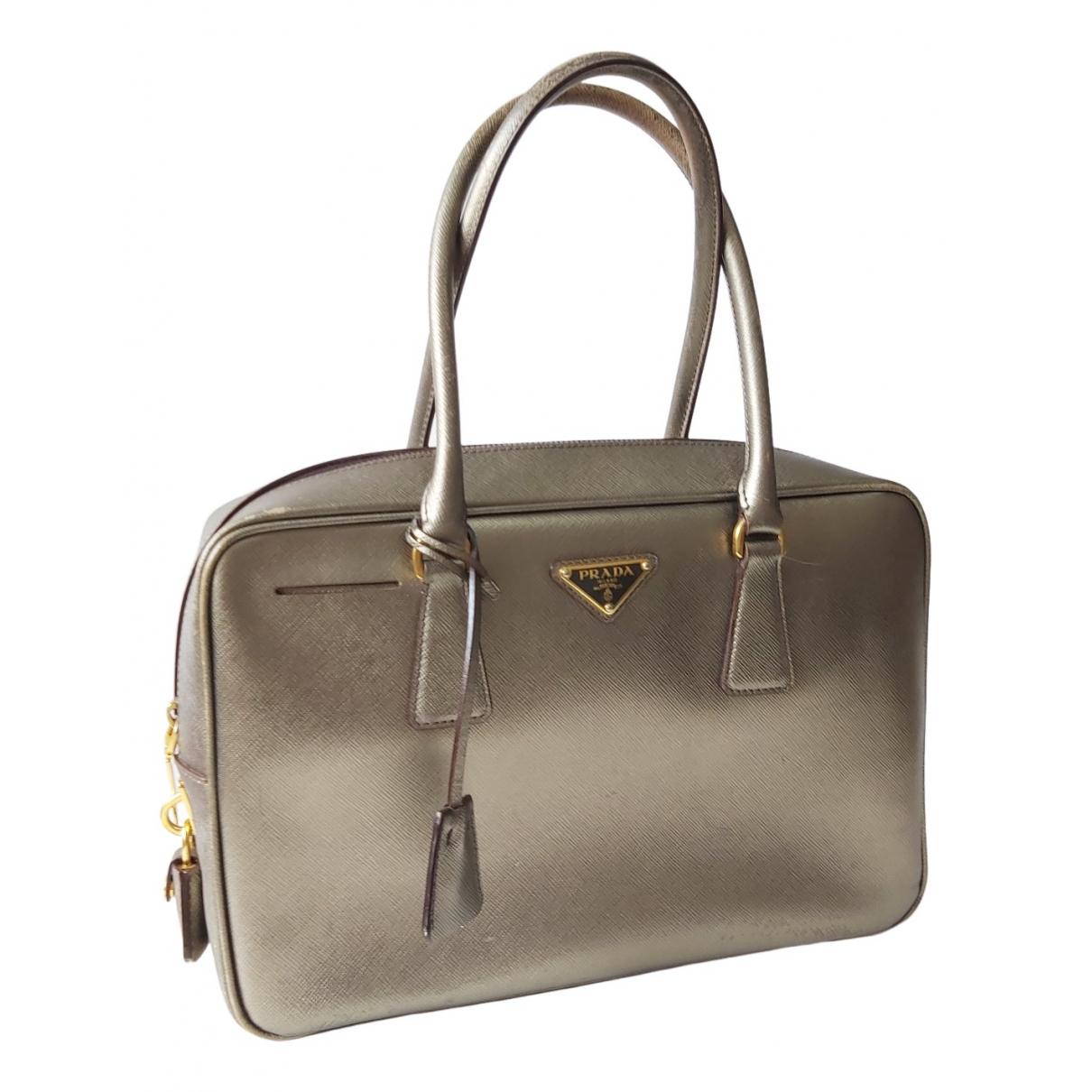 Prada saffiano  Metallic Leather handbag for Women \N