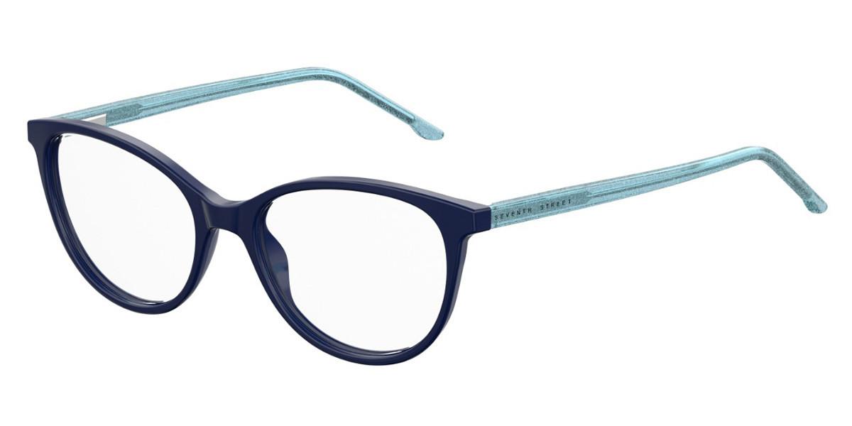 Seventh Street S301 PJP Women's Glasses Blue Size 50 - Free Lenses - HSA/FSA Insurance - Blue Light Block Available