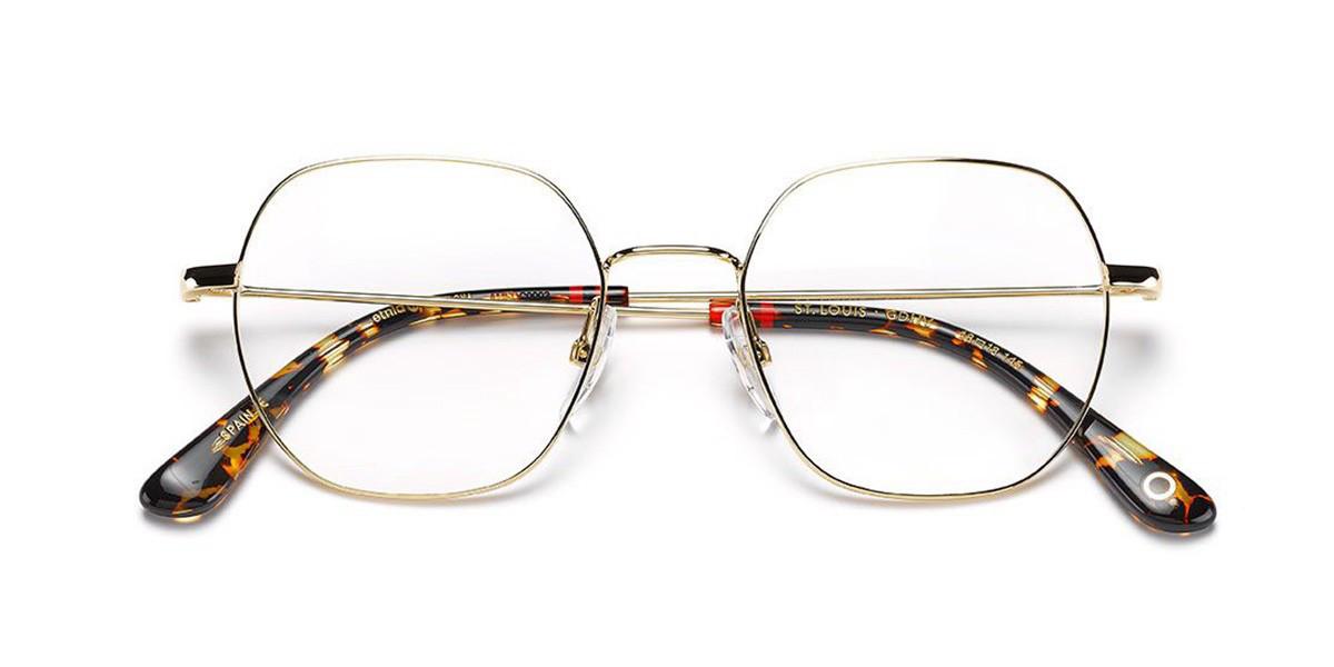 Etnia Barcelona St.Louis GDHV Men's Glasses Gold Size 48 - Free Lenses - HSA/FSA Insurance - Blue Light Block Available