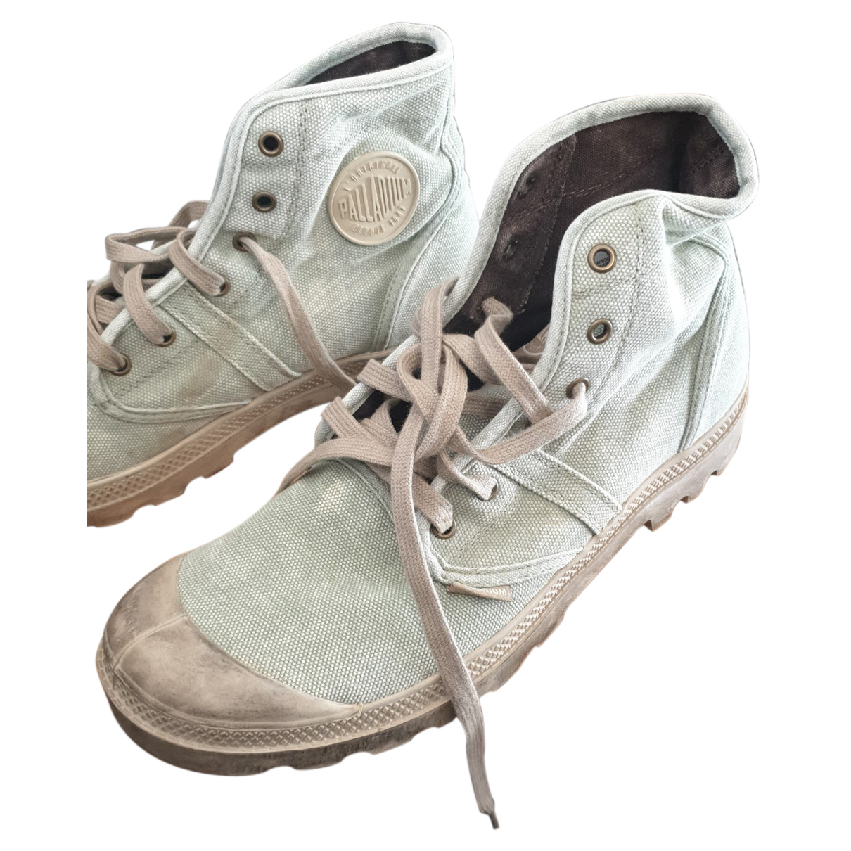 Non Signe / Unsigned \N Sneakers in  Beige Leinen