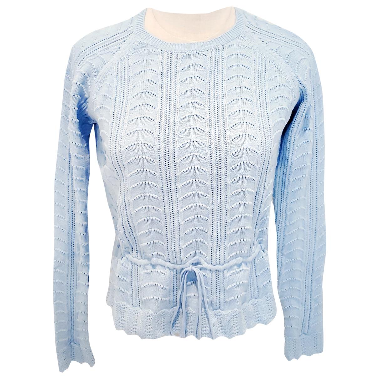 Carven - Pull   pour femme en coton - bleu