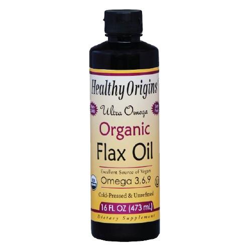 Organic Flax Oil Ultra Omega 16 Oz by Healthy Origins