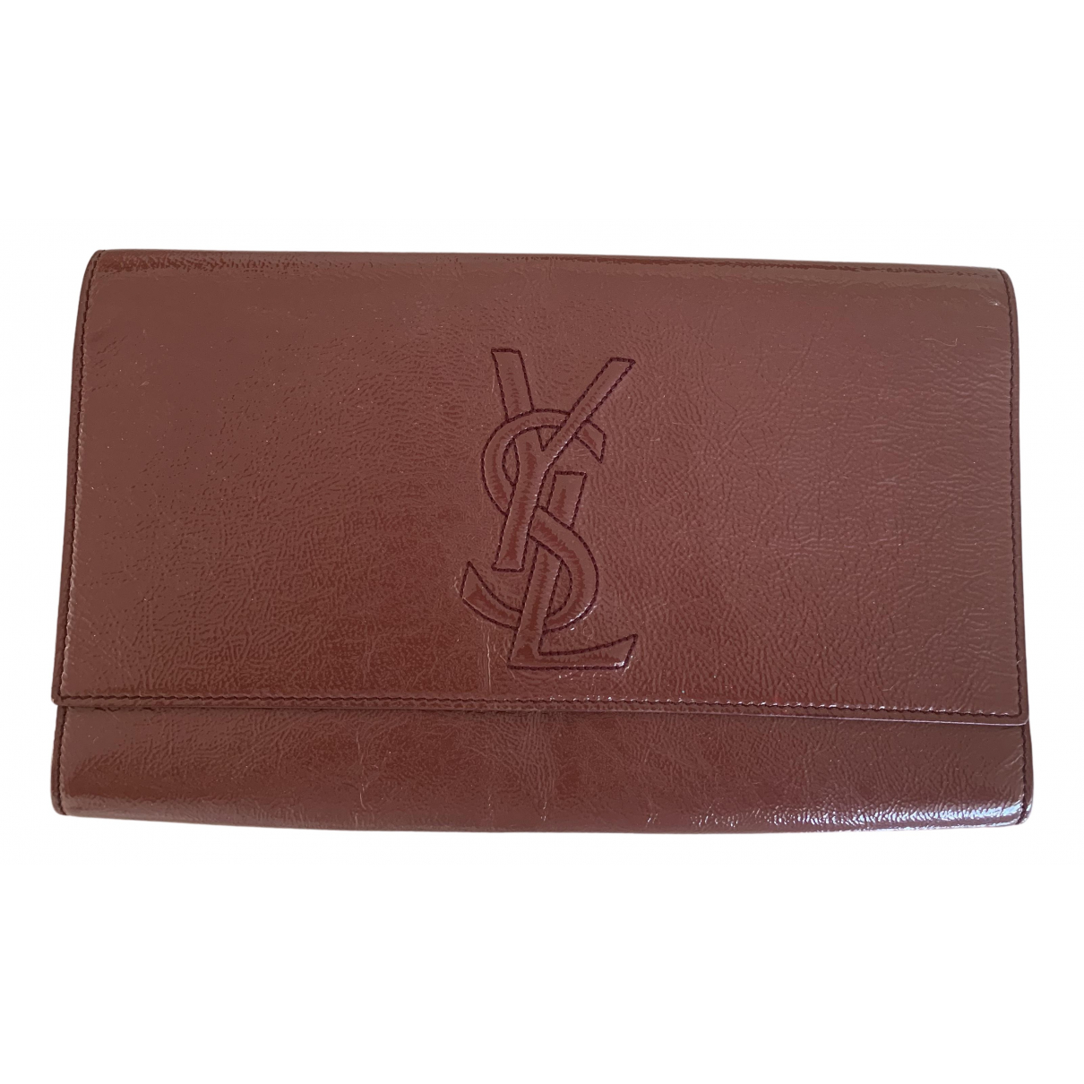 Yves Saint Laurent Belle de Jour Patent leather Clutch bag for Women N