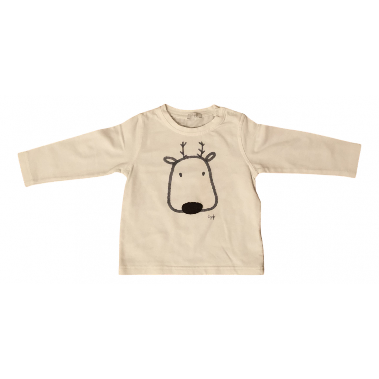 Il Gufo N Beige Cotton  top for Kids 12 months - up to 74cm FR