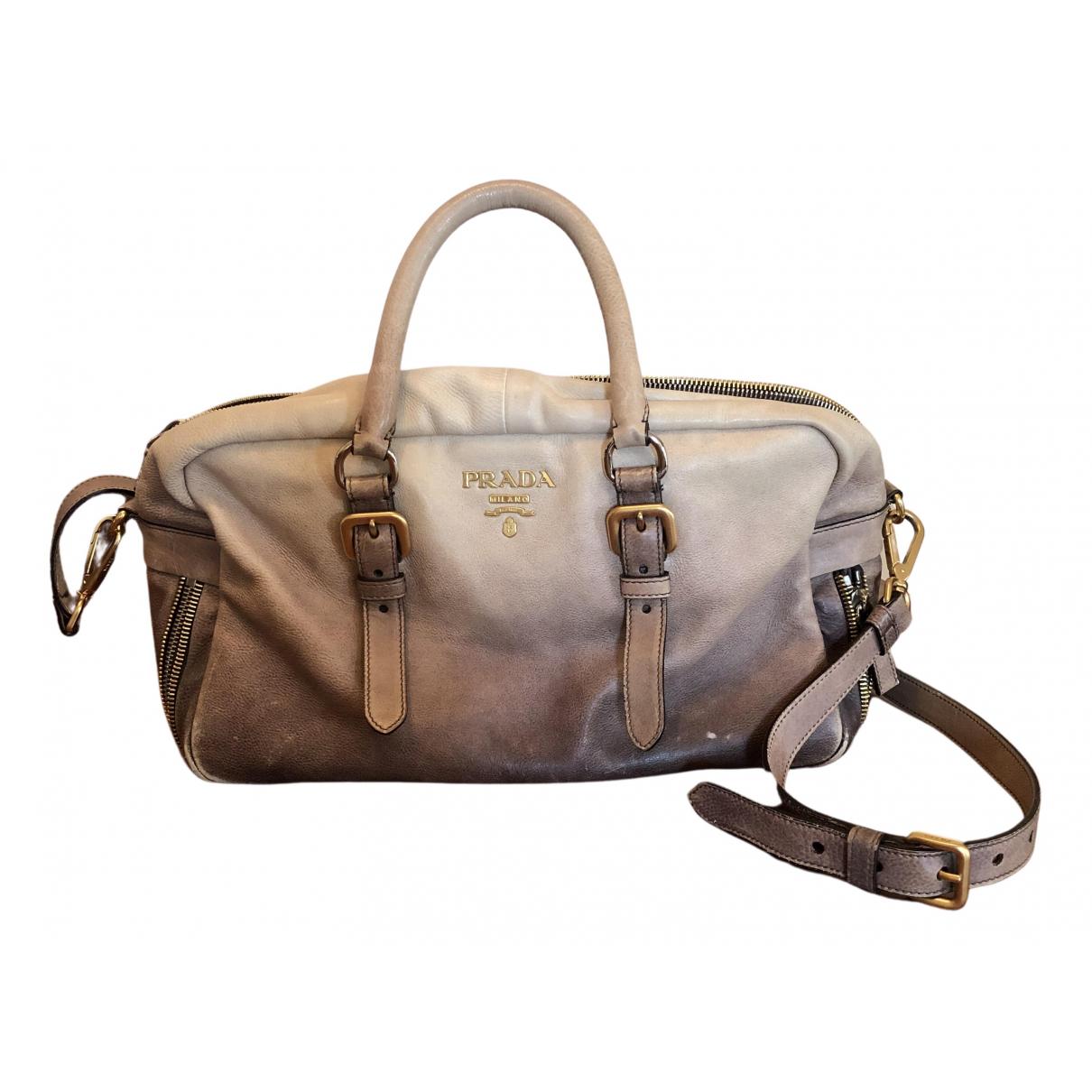 Prada N Beige Leather handbag for Women N
