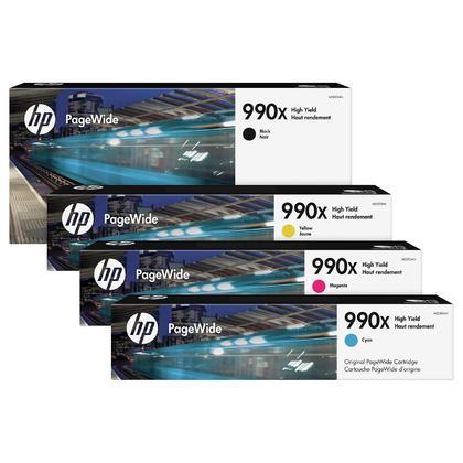 HP 990X M0K01AN M0J89AN M0J93AN M0J97AN cartouche d'encre originale combo haute capacité BK/C/M/Y