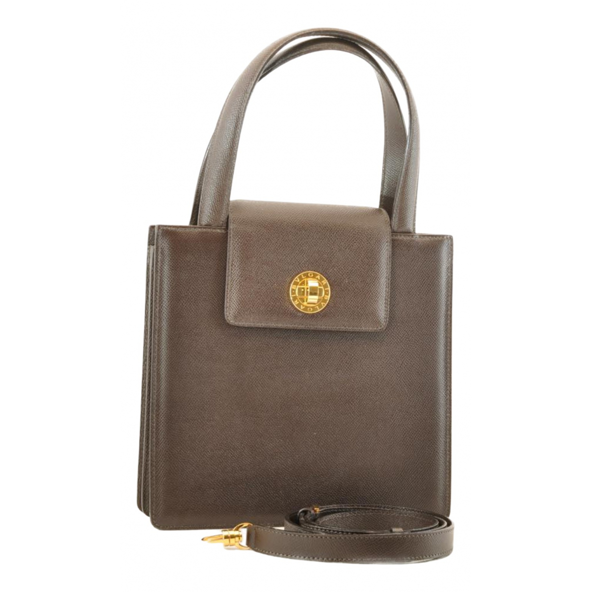 Bvlgari N Brown Leather handbag for Women N
