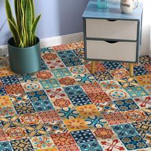 4pcs Patchwork Pattern Carpet