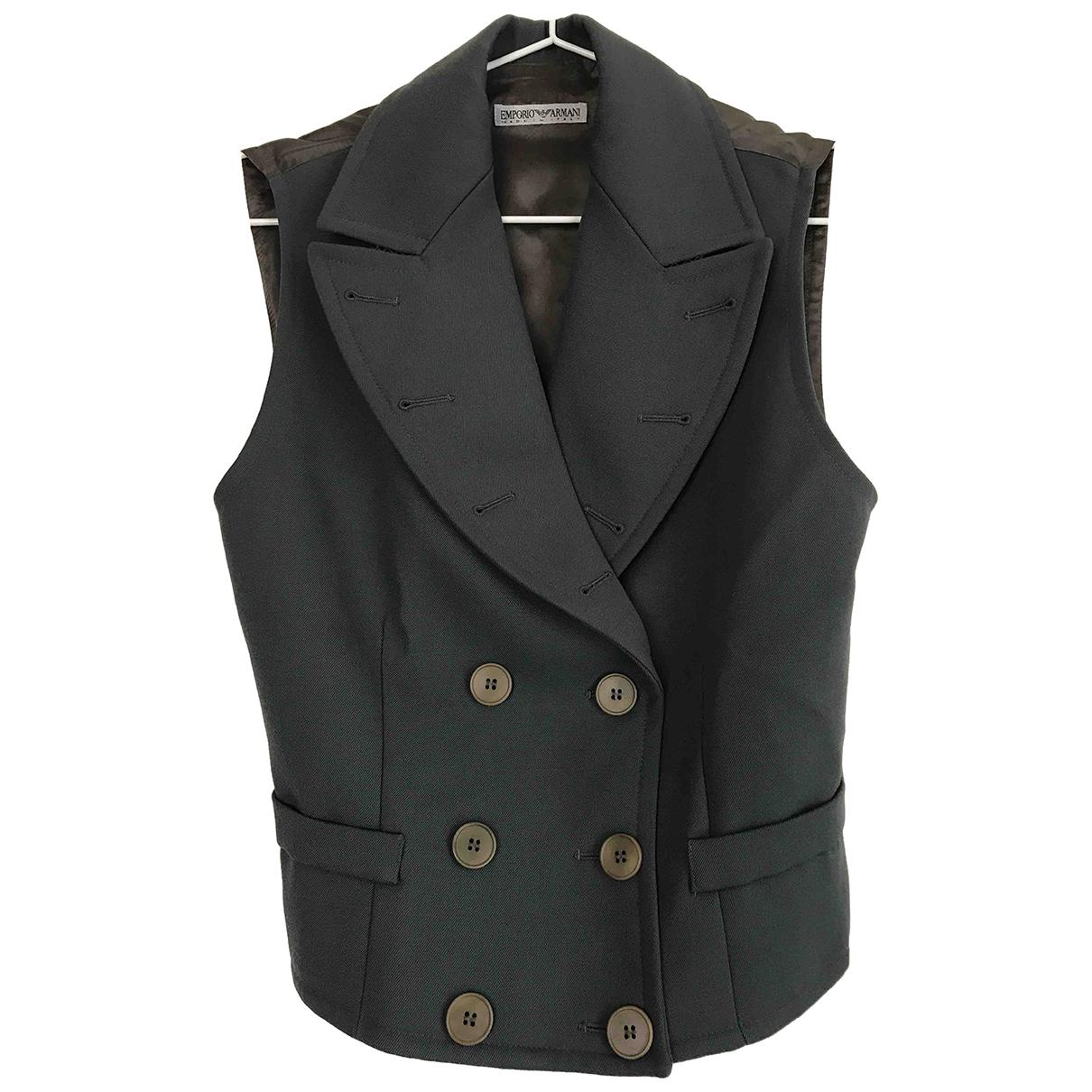 Emporio Armani \N Green Wool  top for Women 42 IT