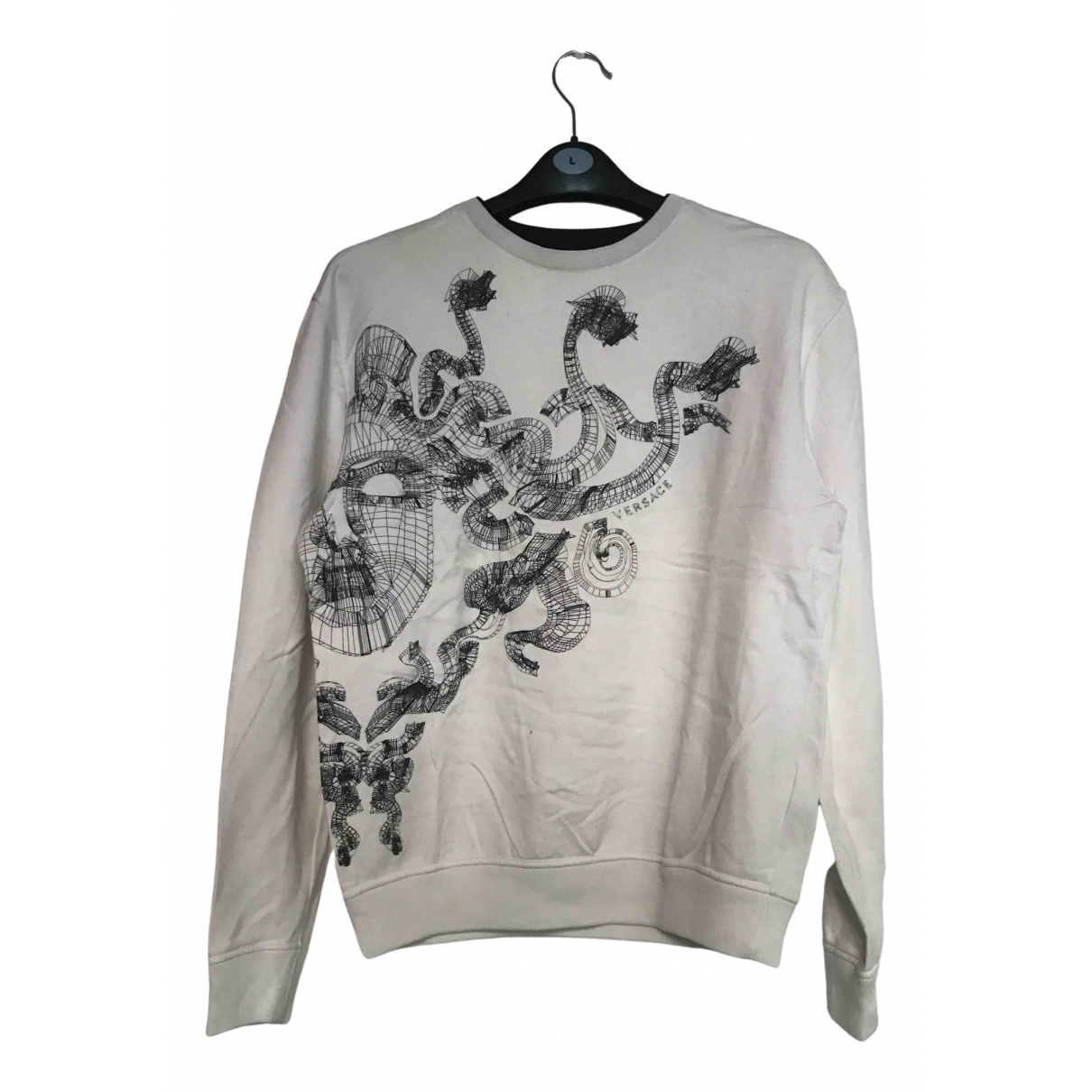 Versace \N Pullover.Westen.Sweatshirts  in  Weiss Baumwolle