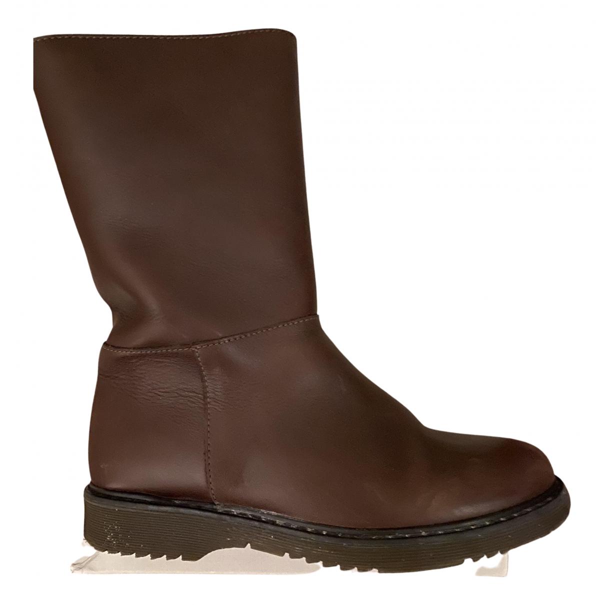 Marni \N Stiefel in  Braun Leder
