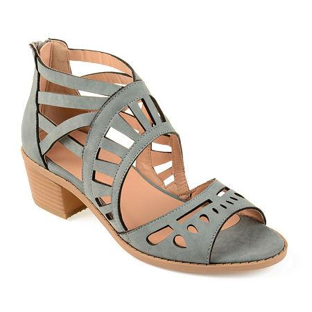 Journee Collection Womens Dexy Pumps Block Heel, 6 Medium, Blue