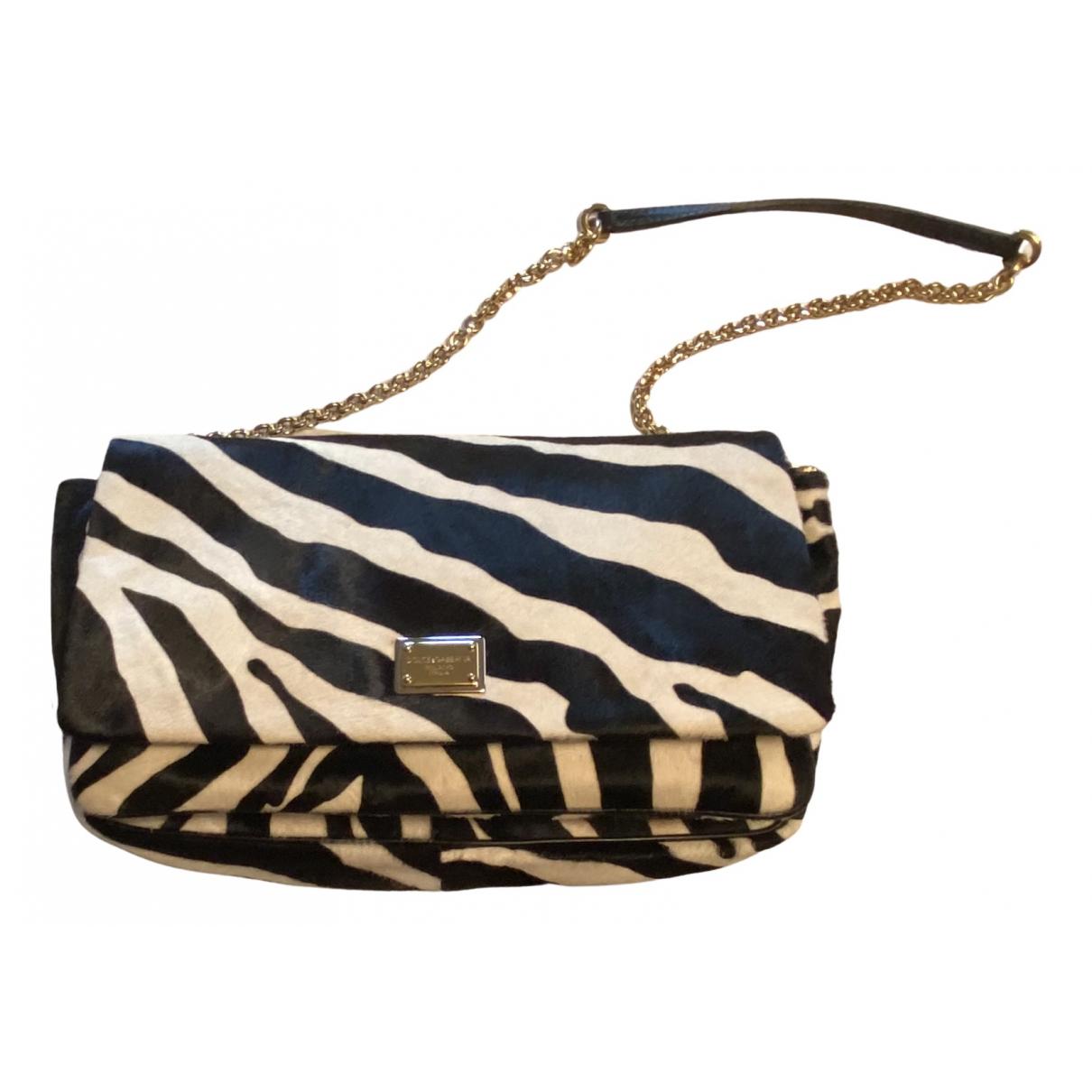 Dolce & Gabbana \N Handtasche in  Schwarz Kalbsleder in Pony-Optik