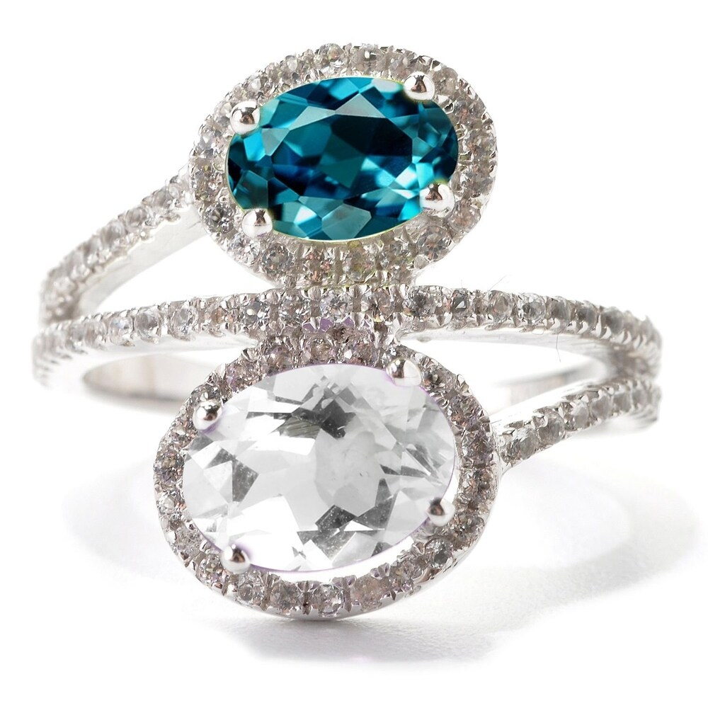 Sterling Silver London Blue Topaz and White Topaz Ring (7)