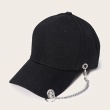 Maenner Baseball Hut mit metallischer Kette Dekor