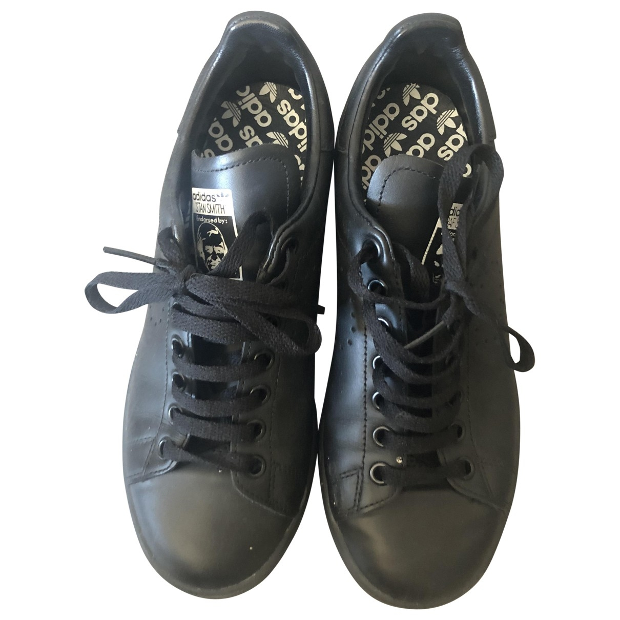 Adidas X Raf Simons Stan Smith Black Leather Trainers for Women 38.5 EU