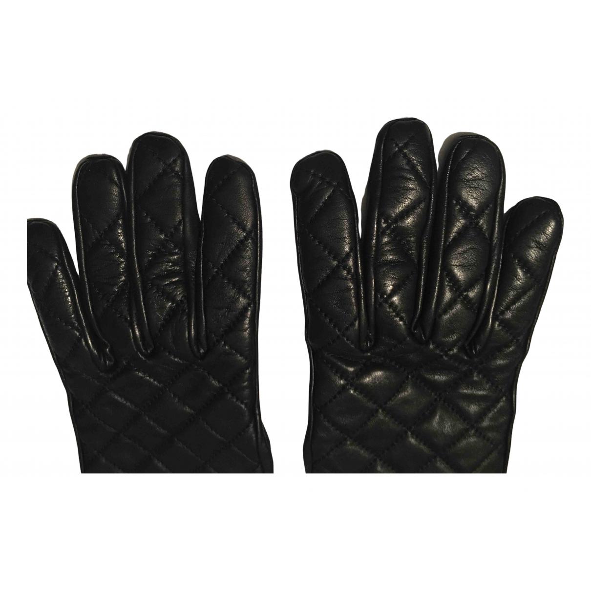 Chanel \N Black Leather Gloves for Women M International