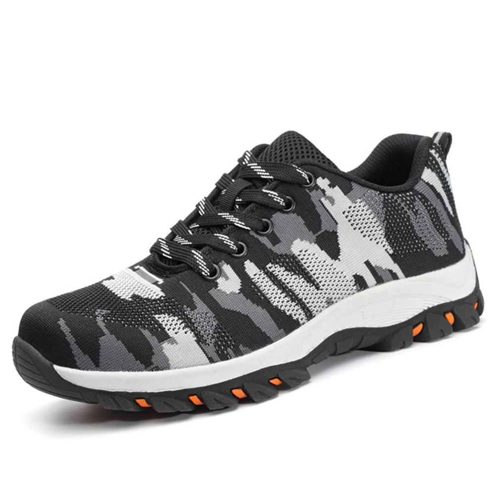 Breathable Mesh Anti-Collision Toe Outdoor Sneakers