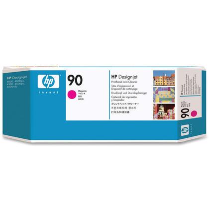 HP 90 C5056A Original Magenta Printhead and Printhead Cleaner