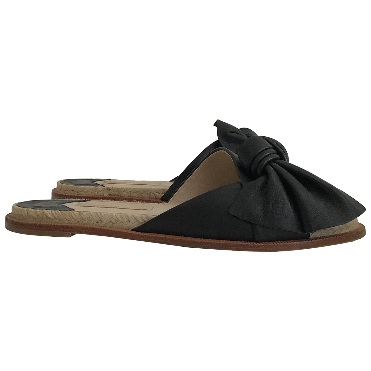 Paloma Barcelo - Sandales   pour femme en cuir - noir