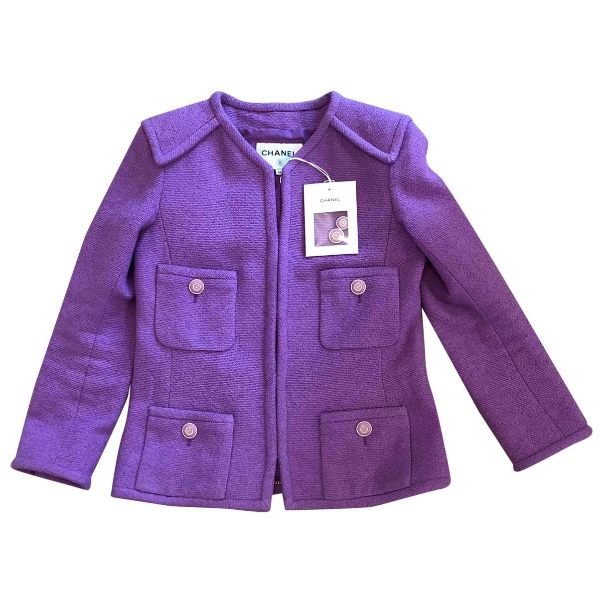 Chanel \N Purple Tweed jacket for Women 36 FR