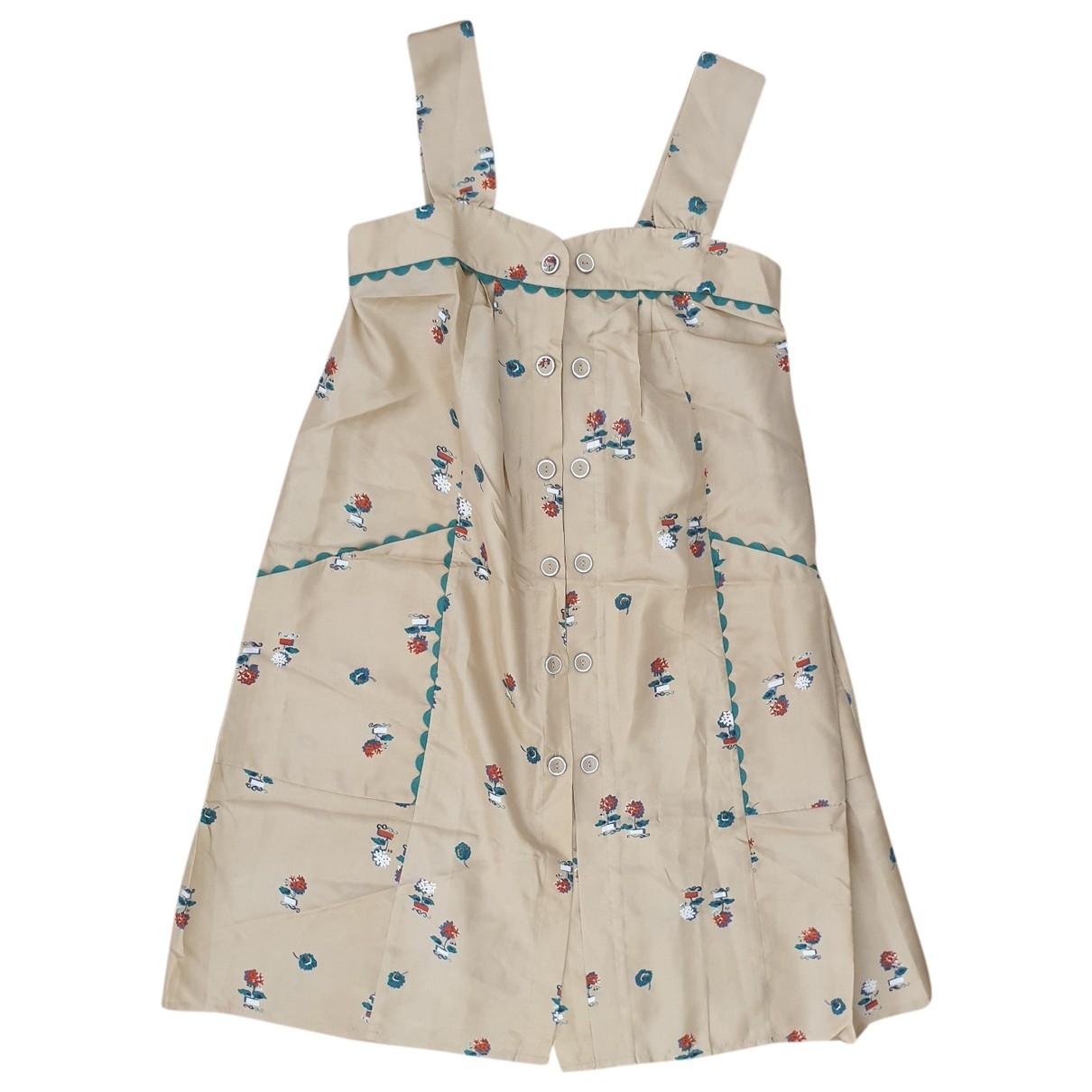 Bel Air \N Kleid in  Beige Seide