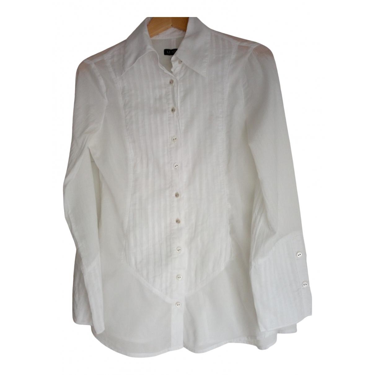 Armani Jean - Top   pour femme en coton - blanc