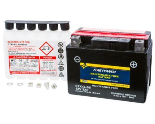 Fire Power Parts 49-2263 Battery Ctx4l-Bs Maintenance Free 49-2263