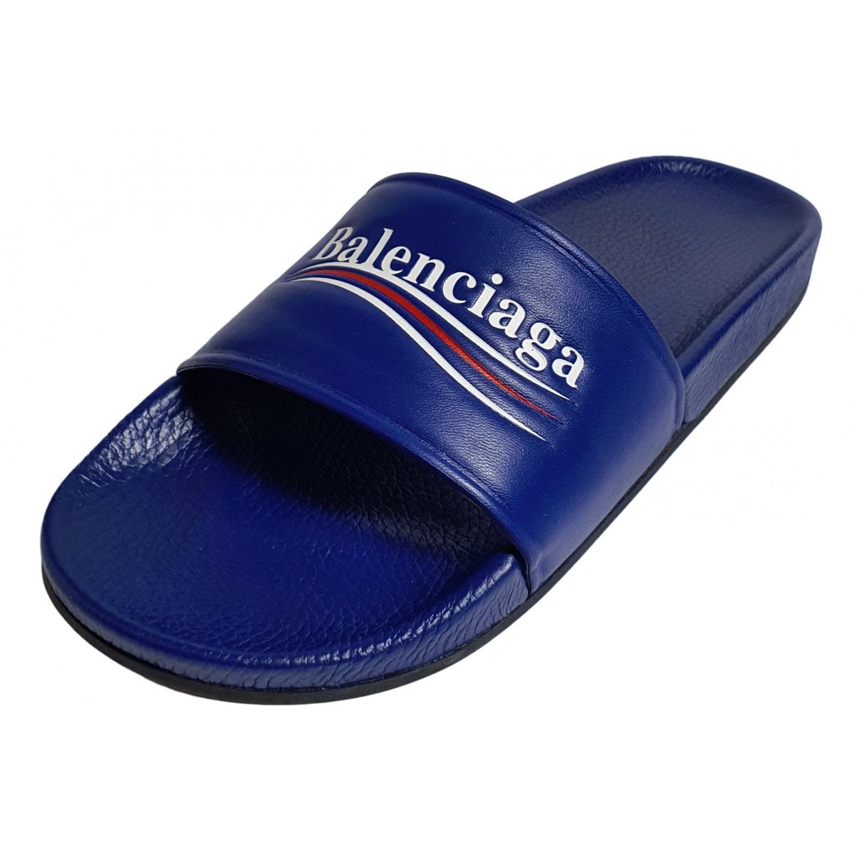 Balenciaga - Sandales   pour homme en cuir - bleu