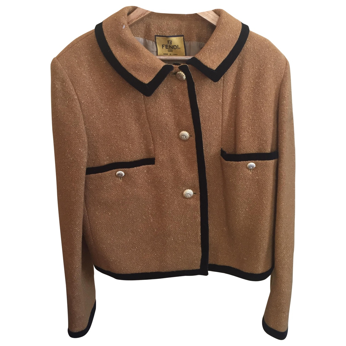 Fendi \N Camel Wool jacket for Women 46 FR