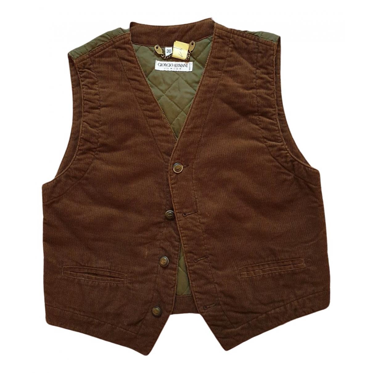 Giorgio Armani - Blousons.Manteaux   pour enfant en coton - marron