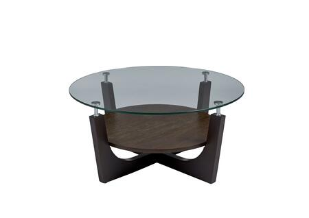 T332-01 Four-Points Round Glass Top Cocktail Table  in