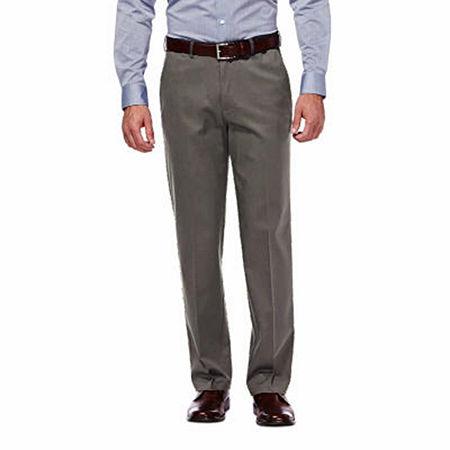 Haggar Premium No Iron Classic-Fit Flat-Front Khakis, 38 32, Black
