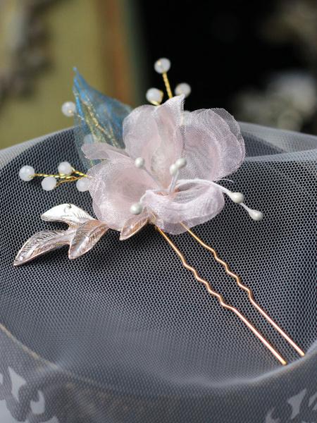 Milanoo Wedding Headpieces Headwear Metal Pink Hair Accessories For Bride