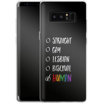 Samsung Galaxy Note 8 Silikon Handyhuelle - Human 1 von caseable Designs
