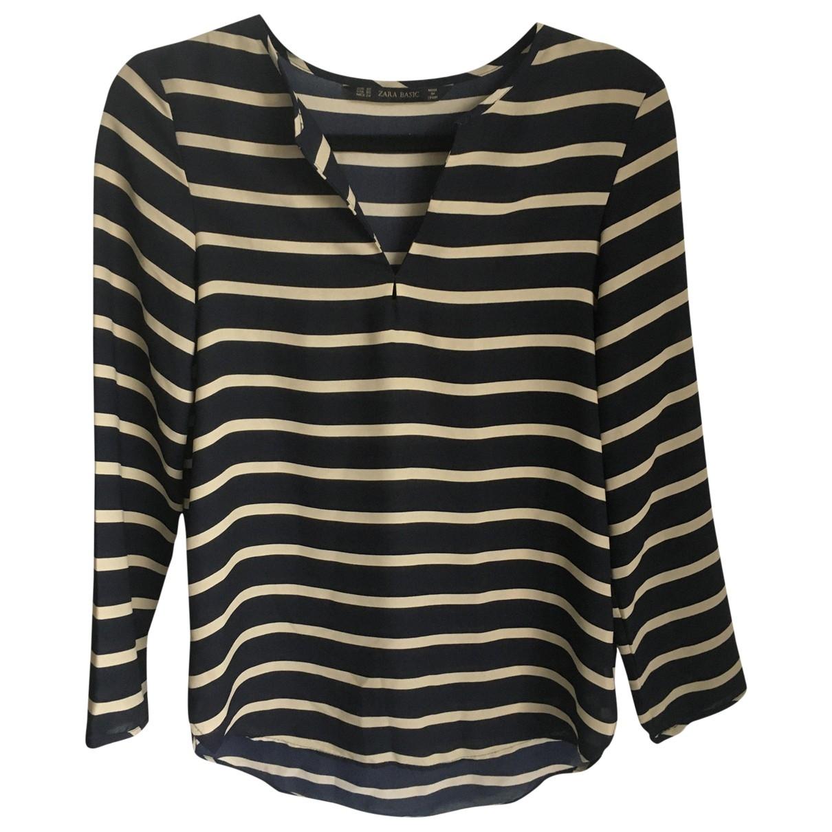 Zara - Top   pour femme en coton - noir
